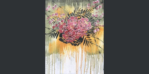 Leaves and Flowers Paint and Sip Brisbane 19.7.19
