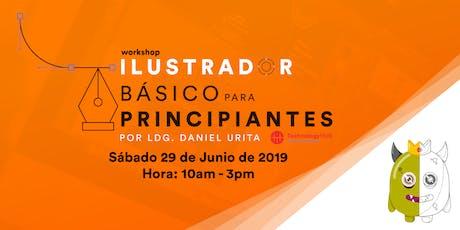 """Workshop """"Ilustrador básico para principiantes"""" por Daniel Urita entradas"""