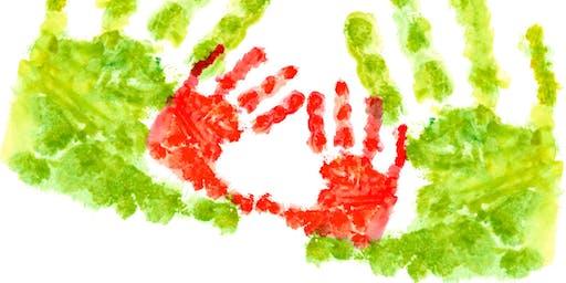 Hello Holidays: Handprint heroes