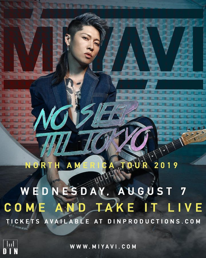 Miyavi Tickets Come And Take It Live Austin Tx August 7th