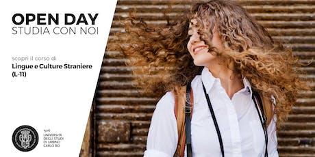 Open Day, scopri il corso in Lingue e Culture Straniere (L-11) biglietti