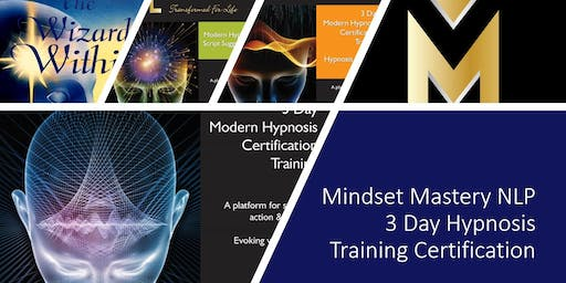 3 DAY HYPNOSIS CERTIFICATION - OCT 11TH - 13TH 2019