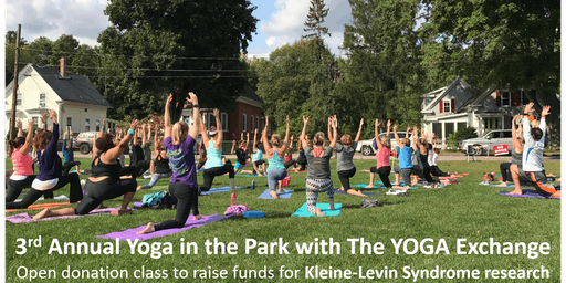 3rd Annual Yoga in the Park with The YOGA Exchange for KLS Research