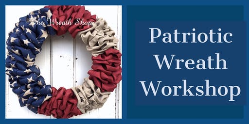 Patriotic Burlap Wreath Workshop
