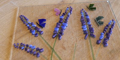 Painting With Glass: Lavenders   Fusing Glass at db Studio