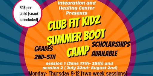 CLUB FIT KIDZ SUMMER BOOT CAMP