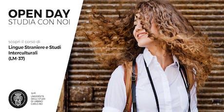 Open Day, scopri il corso in Lingue Straniere e Studi Interculturali (LM-37) biglietti