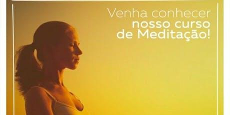 Curso de Meditação - 5 Módulos  ingressos