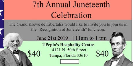 The 7th Annual Juneteenth Awards Luncheon tickets