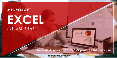 Microsoft Excel Intermediate | MS Excel | 1-day Short Course | 10 CCD CIDB points tickets