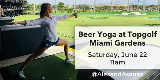 Beer Yoga at Topgolf