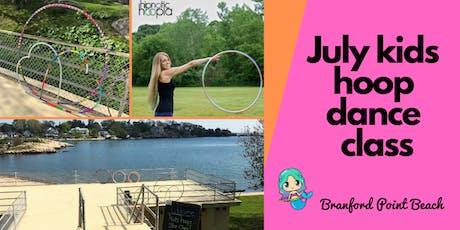 July Kids Hula Hoop Star Class   Grades K-8   Fun Fitness Hoop Dance 4 Week Series  tickets