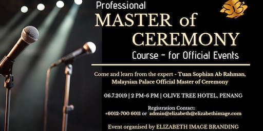Master of Ceremony Course for Official Events