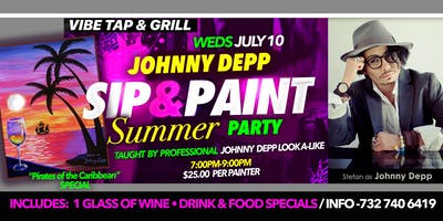 Summer Paint Party with *Johnny Depp