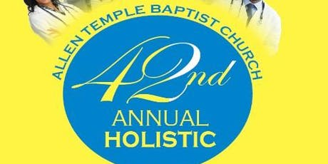 42nd Annual Holistic Health Fair - Participants tickets