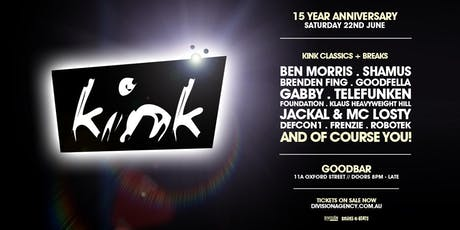KINK 15 Year Anniversary tickets