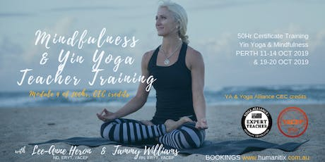 Mindfulness Level 1 Training PERTH Oct 2019 with Tammy Williams RN, ERYT tickets