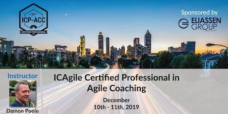 Agile Coach Workshop with ICP-ACC Certification - Atlanta - Dec tickets