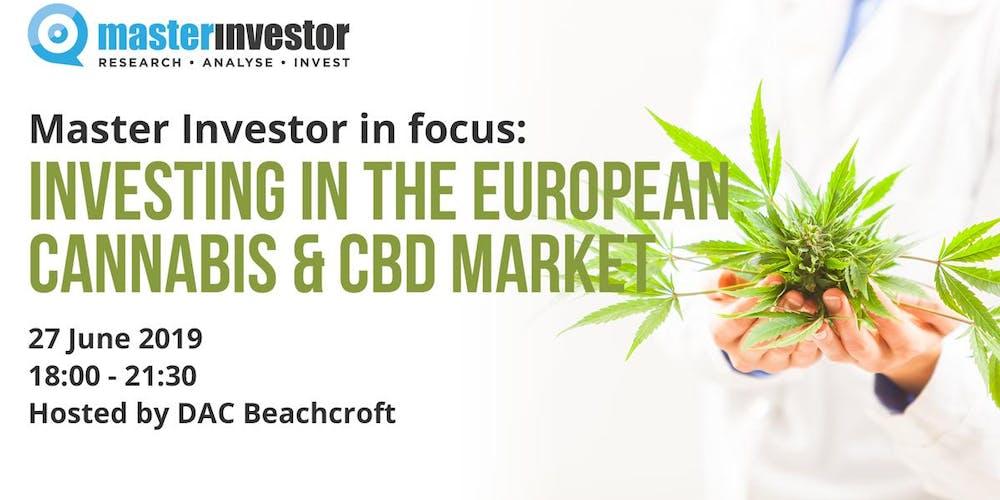 Resultado de imagen de Master Investor in focus: Investing in European Cannabis & CBD Market