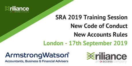 New SRA Code of Conduct & Accounts Rules Training Course - London tickets