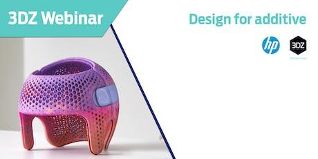 Webinar HP Design for Additive Manufacturing biglietti