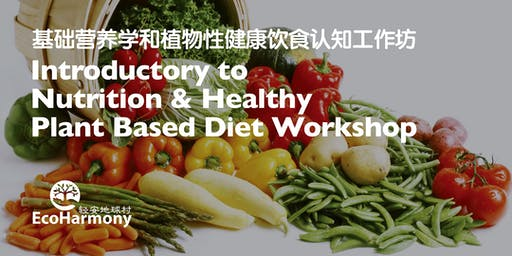 Introductory Nutrition &  Healthy Plant Based Diet Workshop 基础营养学和植物性健康饮食认知工作坊