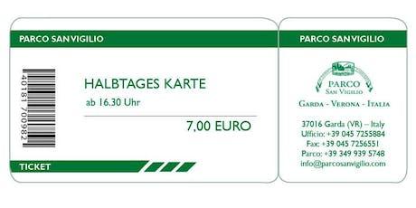Halbtages Karte  biglietti