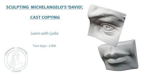 Clay Sculpting Michelangelo's 'David', Cast Copying.
