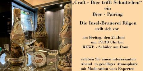 """""""Craft-Bier trifft Schnittchen""""  Die Insel-Brauerei Rügen stellt sich vor Tickets"""
