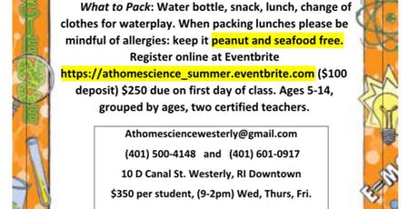 Summer Camp with At Home Science  tickets