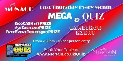 Mega Quiz & Gameshow Night