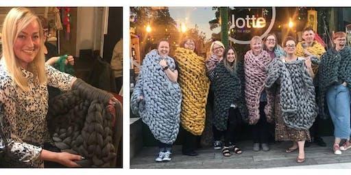 Arm knit COCOON blanket workshop - Sheffield