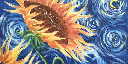Sunflowers Brush Party - Berkhamsted