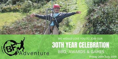 BF Adventure BBQ and Games - 30th Year Celebration tickets