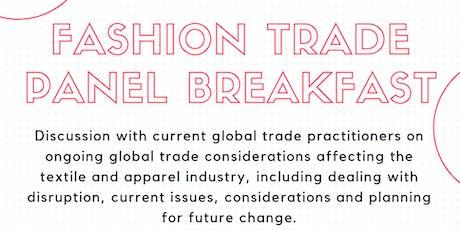 NY Fashion Trade Panel Breakfast tickets