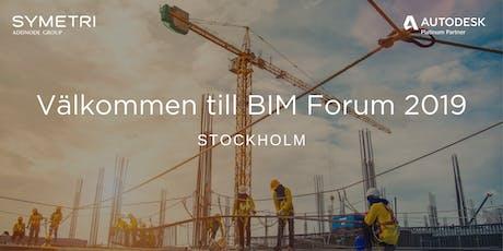 Symetri BIM Forum 2019 - Stockholm biljetter