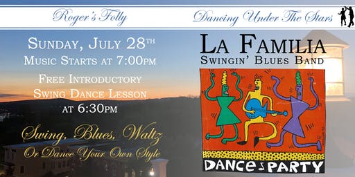 Roger's Folly | Dancing Under The Stars with La Familia Swingin' Blues Band