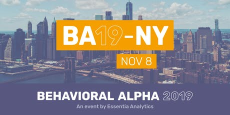 Behavioral Alpha 2019 - New York City  tickets