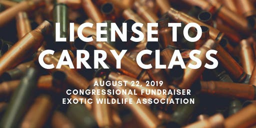 License to Carry Class | Exotic Wildlife Association