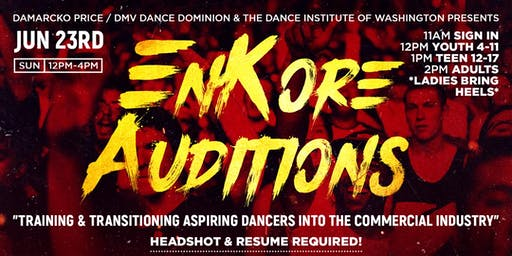EnKore Dance Company Auditions