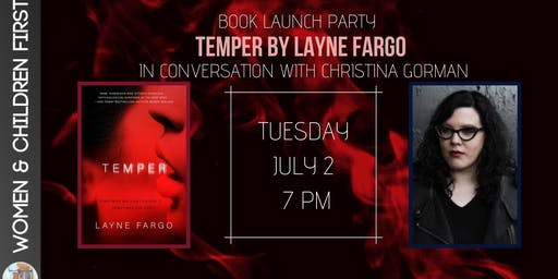 Book Launch Party: TEMPER by Layne Fargo