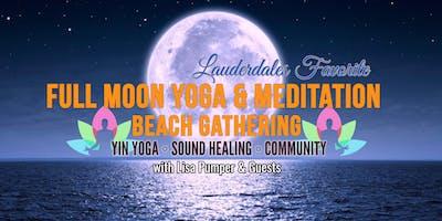 FULL MOON BEACH YOGA MEDITATION & SOUND