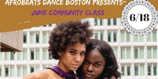 June Community Class: 6/18/19