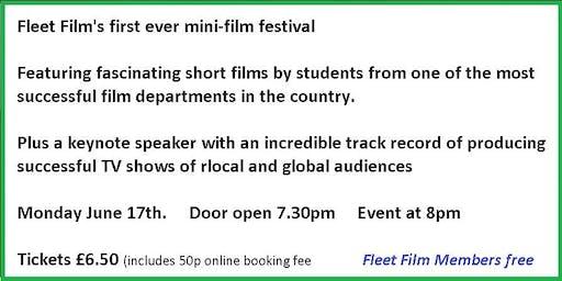 Fleet Film mini-film Festival starring young film-making talent