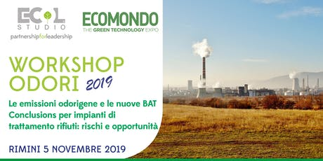 Le emissioni odorigene e le nuove BAT Conclusions per impianti di trattamento rifiuti: rischi e opportunità A cura di Ecol Studio S.p.A. tickets