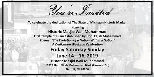 State of Michigan Dedication Ceremony for Historic Masjid Wali Muhammad