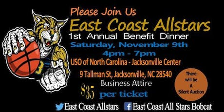 East Coast Allstars 1st Annual Benefit Dinner tickets