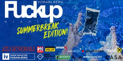 FuckUp Nights Vorarlberg // VOL. X: Summerbreak Edition!