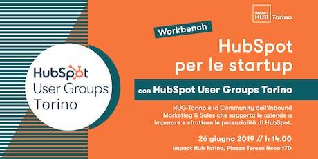 I vantaggi di HubSpot per le Startup biglietti