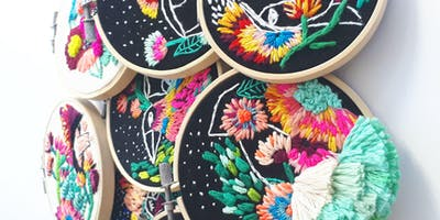 Contemporary Embroidery on Black with Katy Biele